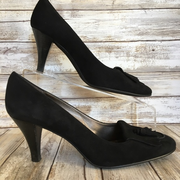 3feae5c5511 Talbots 8M Black Suede Kiltie Moc Toe Dress Pumps.  M 5b11db402e14788808f34608